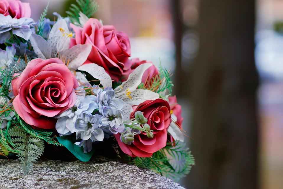 Coronas y flores naturales